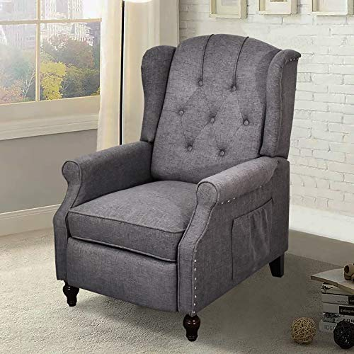 Recliner Chair, Accent Living Room Chairs with Massage, Comfy Tufted...