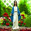CT DISCOUNT STORE Our Lady Of Grace Blessed Virgin Mary Statue Indoor Outdoor Decor