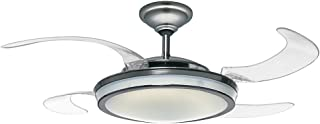 Hunter Indoor Ceiling Fan with Light and Remote Control - Fanaway 48 inch, Brushed Chrome, 59085