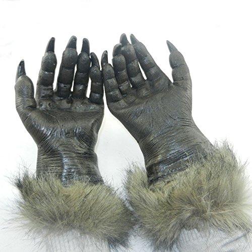 Halloween pour adulte Unisexe Cosplay Hairy mains Halloween Loup-garou Costume Fancy Wolf gants