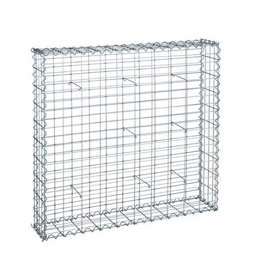 IHD Gabionen Steingabionen Steinkorb Wand Drahtkorb Draht Mauer 20 cm tief 5x10 cm 100x100x20cm
