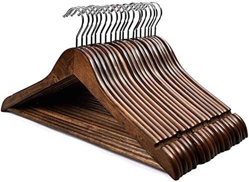 cozymood Hangers Wooden Hangers 20 Pack Wooden Clothes Hanger Wooden Hanger Bulk Walnut Smooth product image