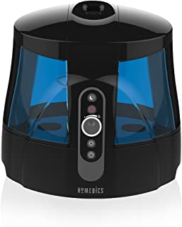 TotalComfort Warm & Cool Mist Ultrasonic Humidifier | 1.7 Gallon Tank, 80 Hour Runtime, Nightlight, Dual Tanks | Clean Tank Technology, BONUS 2 DEMINERALIZATION CARTRIDGES, Whisper-Quiet | HoMedics