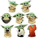 BESTZY Baby Yoda Spielzeug 8 Stück/Set Baby Yoda Serie Actionfigur Spielzeug Stars Wars Das mandalorianische Doll Das Kind Sammlerpuppe Yoda Action Model Büro Ornament Kinder