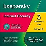 Kaspersky Internet Security 2021   3 Appareils   1 An   Windows/Mac/Android   Code d'activation – Envoi par Email