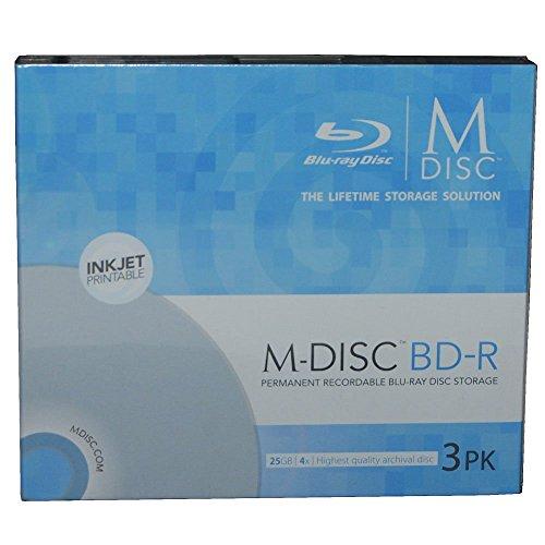 Secomp MILLENNIATA 3X BD-R M-DISC Printable SlimCase 25GB 1-4x Storage 1.000 Year