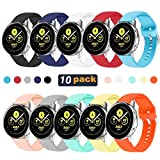 HSWAI 10 Colors Galaxy Watch Active Bands,20mm Replacement Bands...