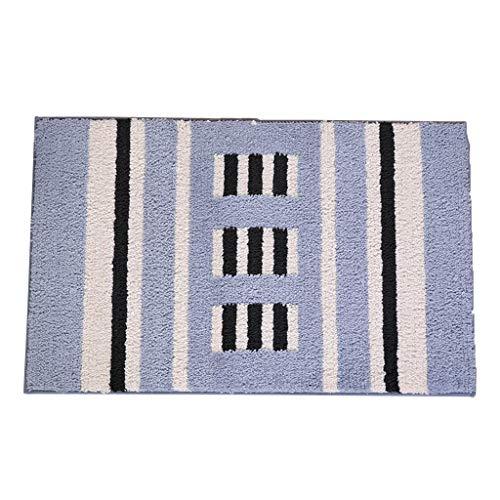 Best Deals! CarPet Bathroom Door Absorbing Home Bedroom Door mat Non-Slip Foot mat (Color : Blue, Si...