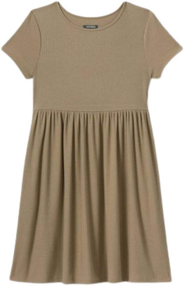 Wild Fable Women's Short Sleeve Waffle Knit Babydoll Dress