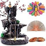 Rongyuxuan Backflow Incense Holder Waterfall Incense Burner, Mountain Tower Censer Aromatherapy...