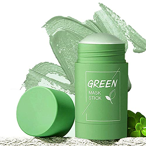 Green Tea Mask Stick, Green Mask Stick Blackhead Remover and Deep Cleansing Oil Control and Anti-Acne Solid and Fine, Suitable for All Skin Types (Green Tea)