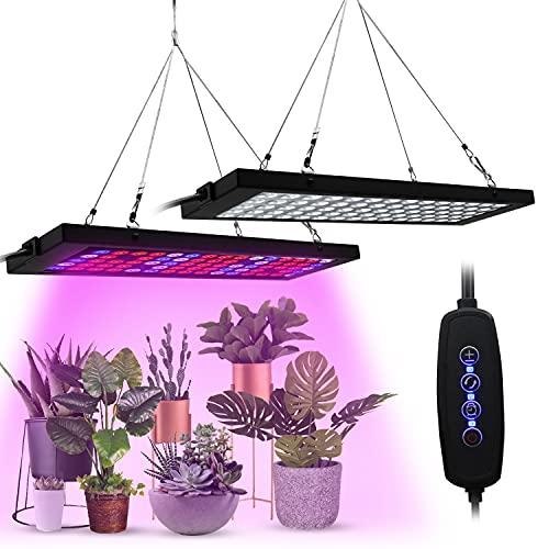 Lámpara de planta LED Homradise y luz de crecimiento ajustable de espectro completo para plantas de interior, siembra, reproducción, verduras y flores, peso ligero y tamaño pequeño