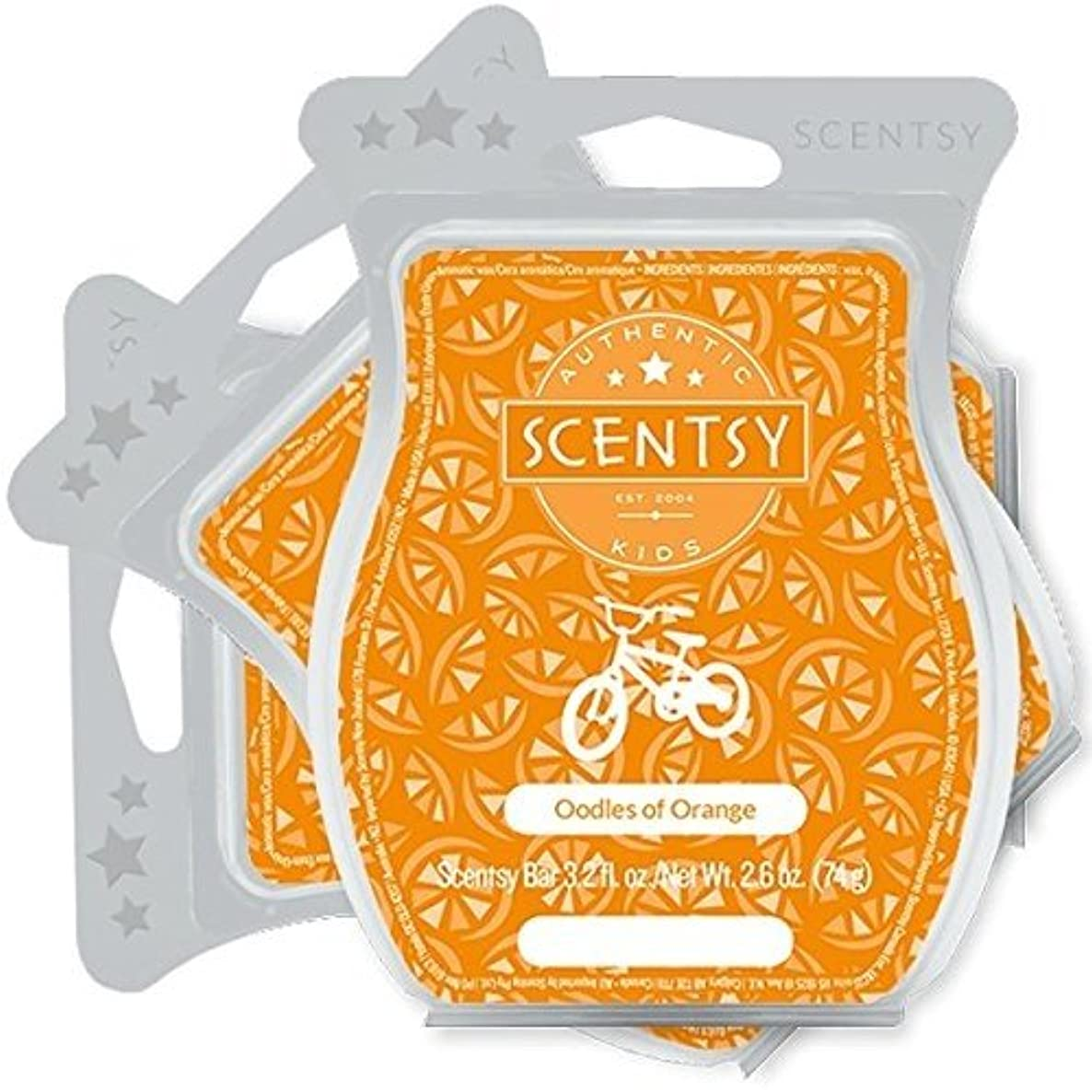 Scentsy, Oodles of Orange, Wickless Candle Tart Warmer Wax 3.2 Oz Bar, 3-pack (3)
