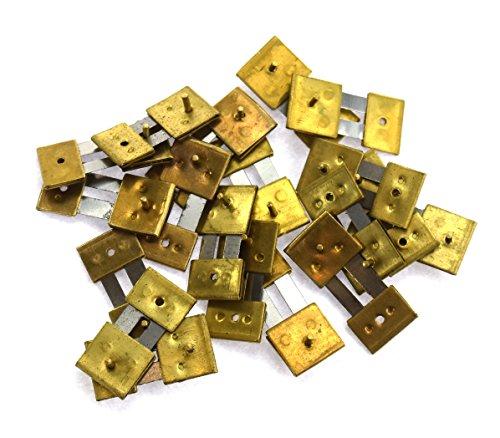 Mantel Clock x 10 unità ottone bloccato assortiti orologio pendolo molle sospensioni