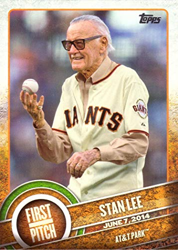 2015 Topps First Pitch #FP-21 Stan Lee Baseball Card - Marvel Comic Book Writer