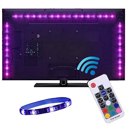 Tiras LED USB de 2 metros con Colores RGB, Para TV Entre 40 y 60 Pulgadas, con Control Infrarrojo (RF)