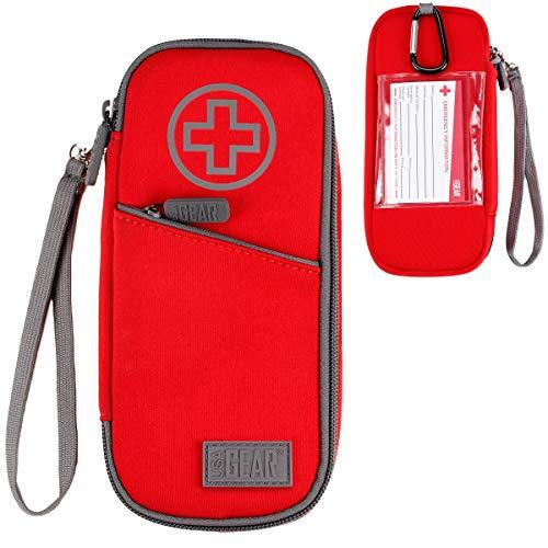 USA GEAR Medikamenten Tasche Kinder - Epipen-Tragetasche Isolierte Medizintasche Kompatibel Mit Epipen, Auvi-q, Insulinspritzen, Inhalator, Kleinem Eisbeutel Und Mehr Medizin (Rot)