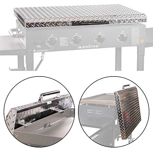 """Hard Cover Lid Blackstone Griddle 36-Inch Diamond Plate Top Weatherproof Rustproof - Made in USA (36-7/8"""" W x 22-3/8"""" D x 2-1/16"""" H)"""