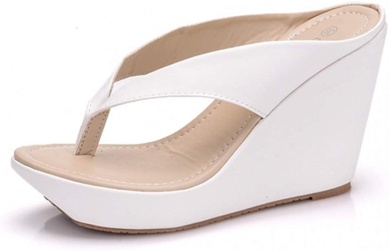 MEIZOKEN Womens Beach Sandals Wedges High Heels Platform Slippers Casual Anti-Slip Thong Flip Flops
