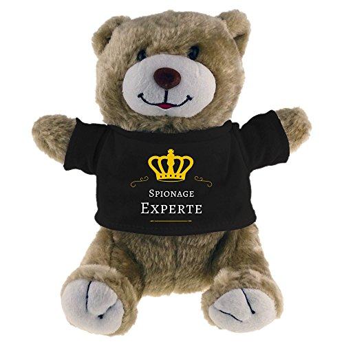 Tela oso de peluche con cámara experto Beige