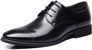 Men's Business Casual Lace Up Oxford Shoes Formal Shoes (Color : Black, Size : 44)