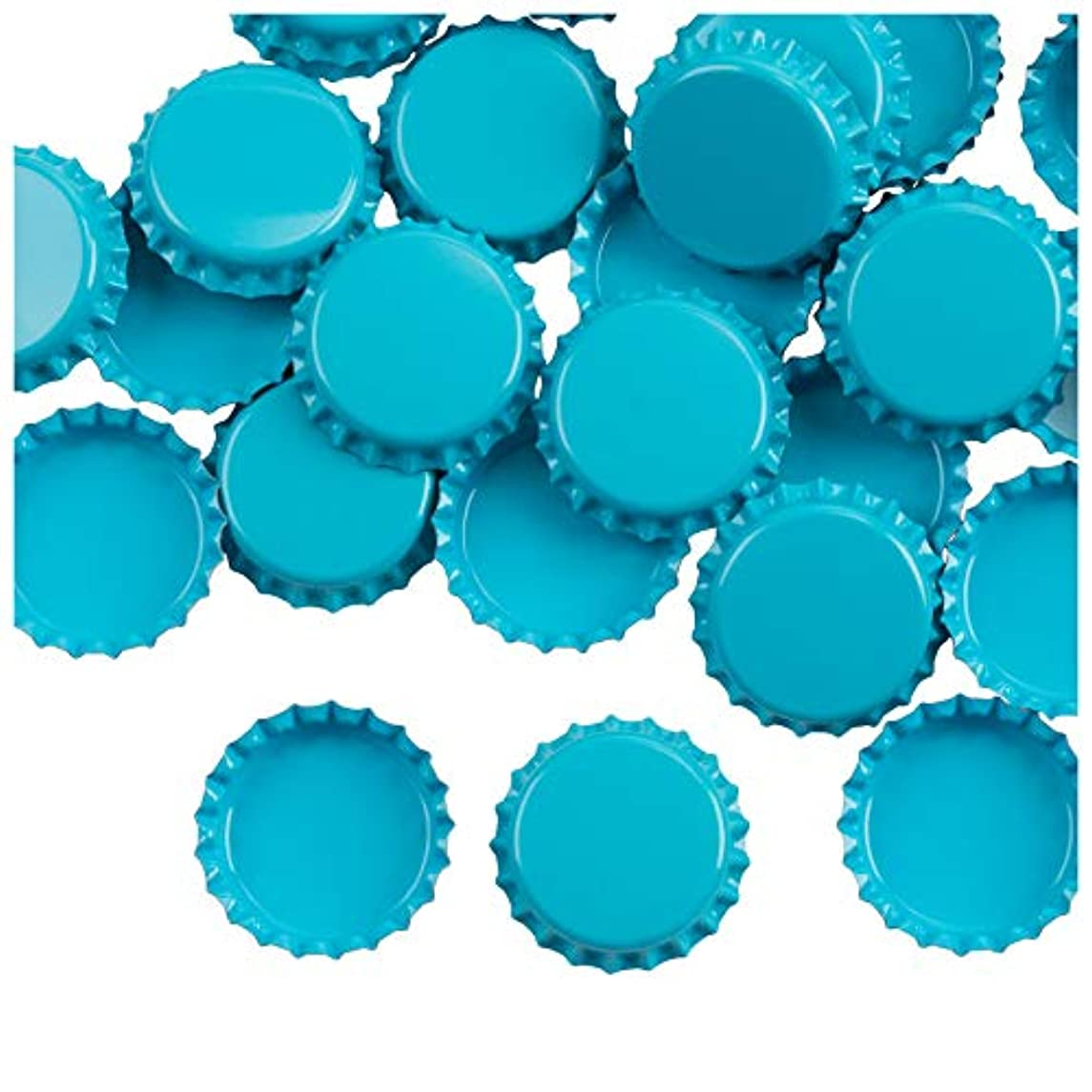 Bottle Caps- 120-Pack Craft Crown Bottle Caps, Decorative Bottle Caps, Perfect for Jewelry Making, Hairbows, Pendants DIY, Scrapbooking, Blue, 1 Inch Diameter