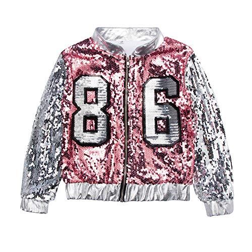 - Rosa Pailletten Jacke Erwachsene Kostüme