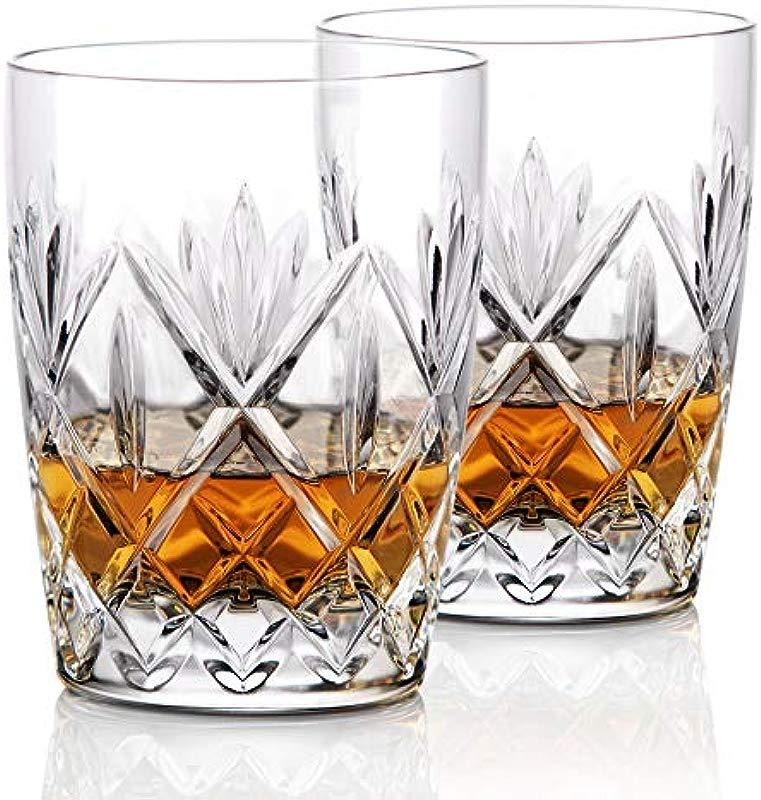 Waterford Crystal Huntley Crystal DOF Whiskey Tumblers Pair