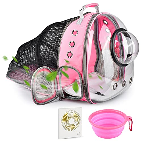 Cat Backpack Expandable,Bubble Cat Carrier Backpack with Fan &...