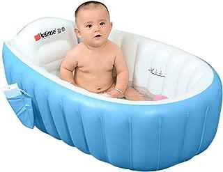 Skyshc Inflatable Baby Bathtub Portable Travel Bath Tub Blow Up Wash Basin for Toddler Non Slip(Blue)