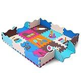 qqpp Puzzles de Suelo,Alfombra Puzzle de 25 Piezas | Instrumento Musical (30*30*1.0CM) | Alfombrilla de Juego Infantil | Gomaespuma EVA | Lavable | Colores Resistentes Rompecabezas |