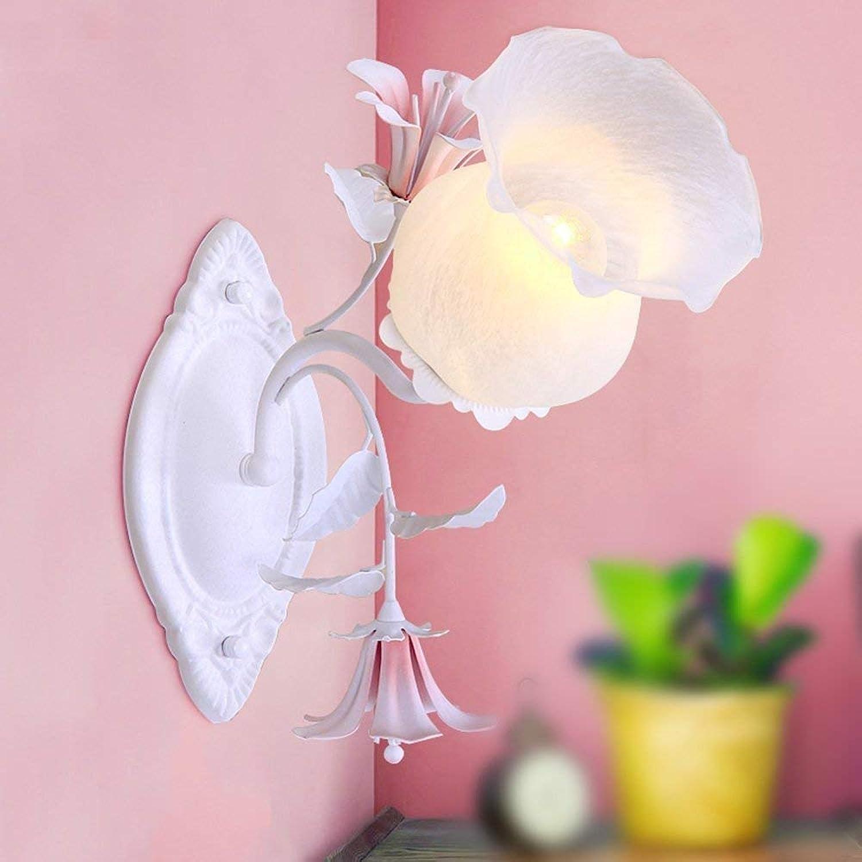 WHKHY Pastorale Wandleuchte Botanical Botanical Nachttischlampe Lampe Einzelkopf Wandleuchte die Schlafkammer Illuminateation Lampe