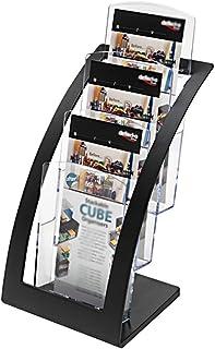 Soporte de CD Transparente de Tres Capas Estante de exhibición de una Sola página de Escritorio de Hotel de Oficina - Rack...