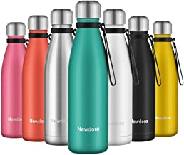 Newdora Insulated Water Bottle 500ml Stainless Steel Water Bottle BPA Free Double-Walled Vacuum Flask for Sports 12 Hours ...