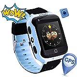 Reloj Infantil Smartwatch para Niños Con llamada Toque HD Pantalla SOS GPS Despertador...