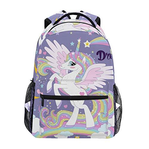 Unicornio en una Mochila Escolar de Rainbow para Mochila de Viaje para niños, niñas y niños