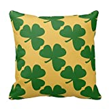 96688PLAOO AliHogbenStore Shamrocks Green #:215 Pillow Case Cushion Cover Home Sofa...