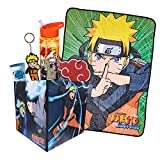 JUST FUNKY Naruto Shippuden LookSee Collector's Box | 5 Official Naruto Shippuden Themed Collectibles | Includes Blanket, Water Bottle, Keychain & More