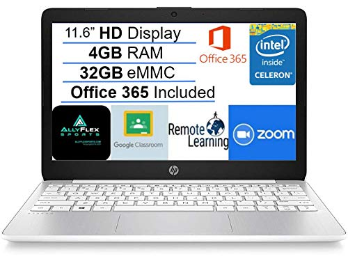 2021 Newest HP Stream 11.6' HD Laptop Computer, Intel Celeron N4000 Processor, 4GB RAM, 32GB eMMC...