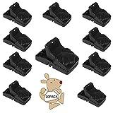 moinkerin 10 Piezas trampas para Ratas Trampa Ratones Reutilizable Mouse Trap para Atrapar Ratones, Uso en Interiores y Exteriores