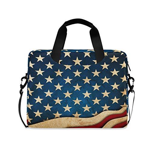 FELIZM - Custodia per computer portatile con bandiera americana, 4 ° luglio, con tracolla per notebook, per uomini, donne, ragazzi e ragazze, 4 – 16 pollici