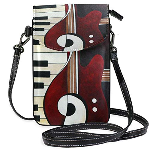 XCNGG Piano Guitar Cell Phone Purse Wallet for Women Girl Small Crossbody Purse Bags