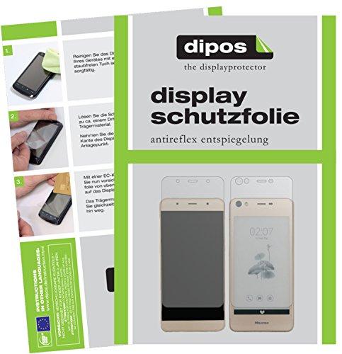 dipos I 6X Schutzfolie matt kompatibel mit Hisense A2 Folie Bildschirmschutzfolie (3X Vorder- und 3X Rückseite)