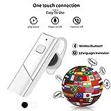 JINLO Bluetooth Headset Auriculares Traductores por Voz En Tiempo Real 33 Idiomas Traducción Wireles...