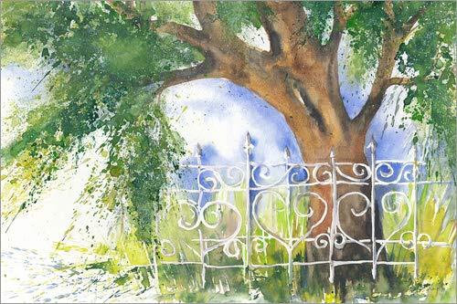 Posterlounge Leinwandbild 100 x 70 cm: Alter Baum von Jitka Krause - fertiges Wandbild, Bild auf Keilrahmen, Fertigbild auf echter Leinwand, Leinwanddruck