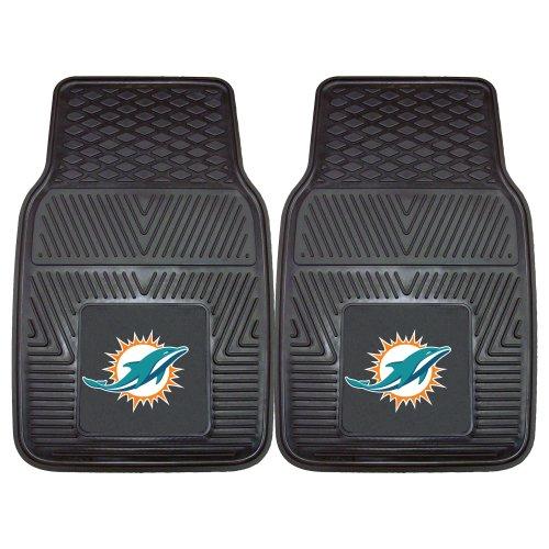 """FANMATS - 8770 NFL Miami Dolphins Vinyl Heavy Duty Car Mat,18""""x27"""""""