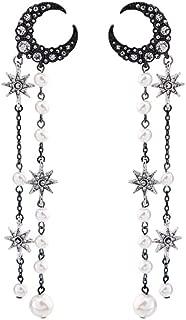 BEAUTYCHOU Pendientes/Estrellas De La Luna Pendientes De Perlas De Diamantes Pendientes Largos Al por Mayor Damas