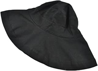 Sunscreen Sun Hat Sunscreen Outdoor Fisherman Hat Girl Hat Oversized Brim Sun Hat (Color : Black, Size : M (56-58cm))