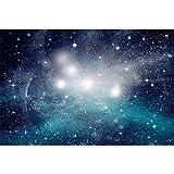 Fondo de Brillo Estrellado Estrella Noche Escena Negra Retrato niño fotografía Accesorios de Fondo para Estudio fotográfico A2 10x10ft / 3x3m