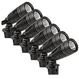 Moonrays 95536 1W Low Voltage LED Metal Spot Light Kit (6 Pack) Transformer